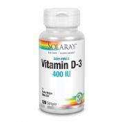 Solaray vitamina d3 400 iu 120 capsulas