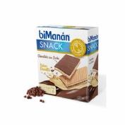 Bimanan snack chocolate negro y praline (20 g 6 biscuits)