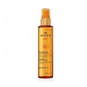 Nuxe sun aceite bronceador spf 10 150 ml.