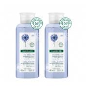Agua floral desmaquillante al aciano calmante (pack duo 400 mlx 2 u)