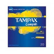 TAMPAX COMPAK TAMPON 100%ALGODON (REGULAR 22 U)