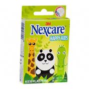 3m nexcare active happy kids - aposito adhesivo (animals 10 u 25 mm x 72 mm + 10 u 19 mm x 72 mm)