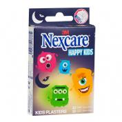 3m nexcare active happy kids - aposito adhesivo (monsters 10 u 25 mm x 72 mm + 10 u 19 mm x 72 mm)