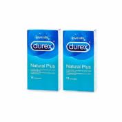 Durex duplo natural plus preservativos 12u