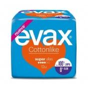 Compresas higienicas femeninas - evax cottonlike (super con alas 12 compresas)