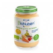Bionuben ecopure verduras y arroz con ternera (250 g)