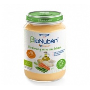 Bionuben ecopure verduras y arroz con lubina (250 g)