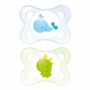 MAM BABY CHUPETE MINI SILICONA 0-6M PACK DOBLE