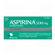 ASPIRINA 500 mg COMPRIMIDOS , 20 comprimidos