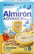 Almiron 8 cereales con miel advance 300 g 2 u