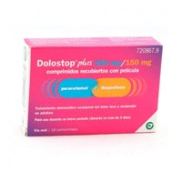 DOLOSTOP PLUS 500 MG/150 MG COMPRIMIDOS RECUBIERTOS CON PELICULA, 16 comprimidos